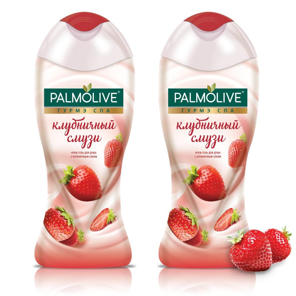 Купить Крем-гель для душа Palmolive Гурмэ Спа Клубничный Смузи 250 мл 2 шт в наборе