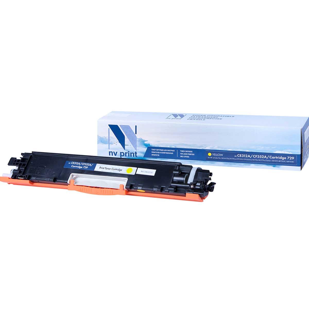 Картридж для лазерного принтера NV Print CE312A/CF352A/729Y, желтый NV-CE312A/CF352A/729Y