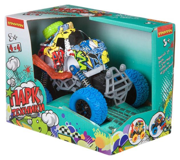 Купить Машинка инерционная Bondibon Парк техники Джип синий с граффити Bondibon ВВ4497,