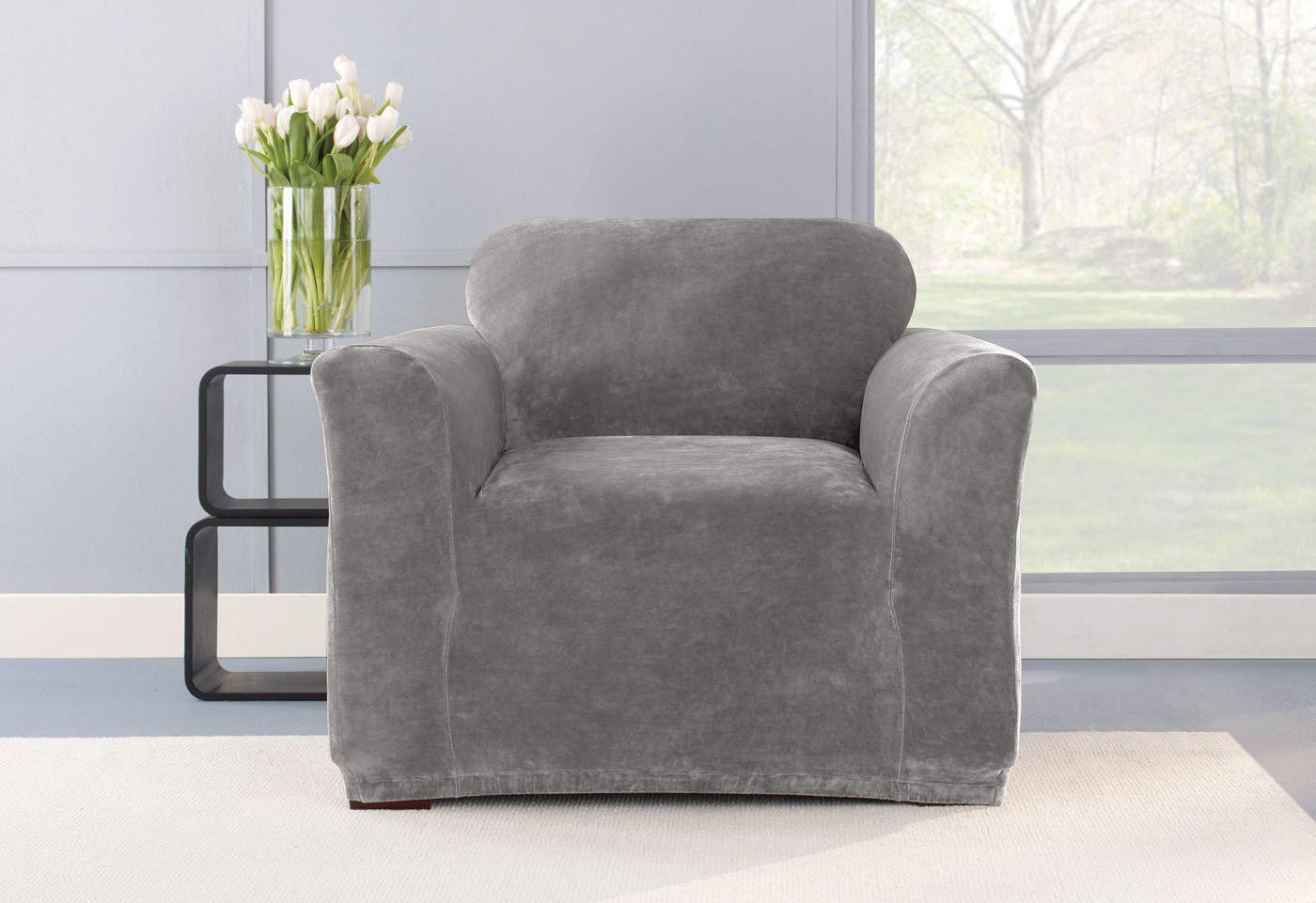 Чехол на кресло Бруклин, светло серый