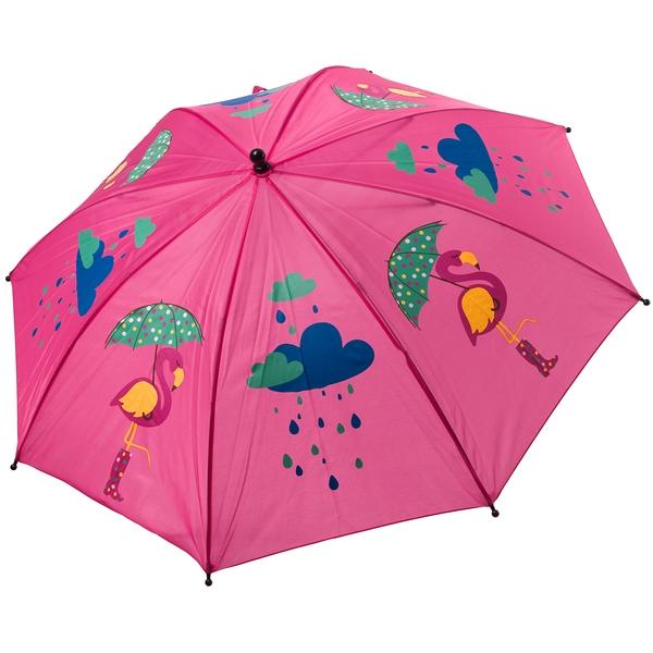 Автоматический детский зонт Bondibon Фламинго, розовый, 19