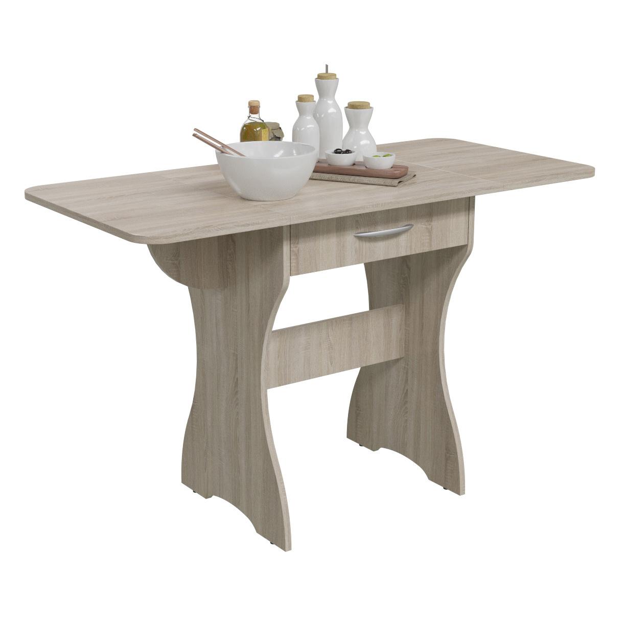 Стол обеденный Гранд-Кволити 6-02.120 дуб сонома, 120х57х75 см