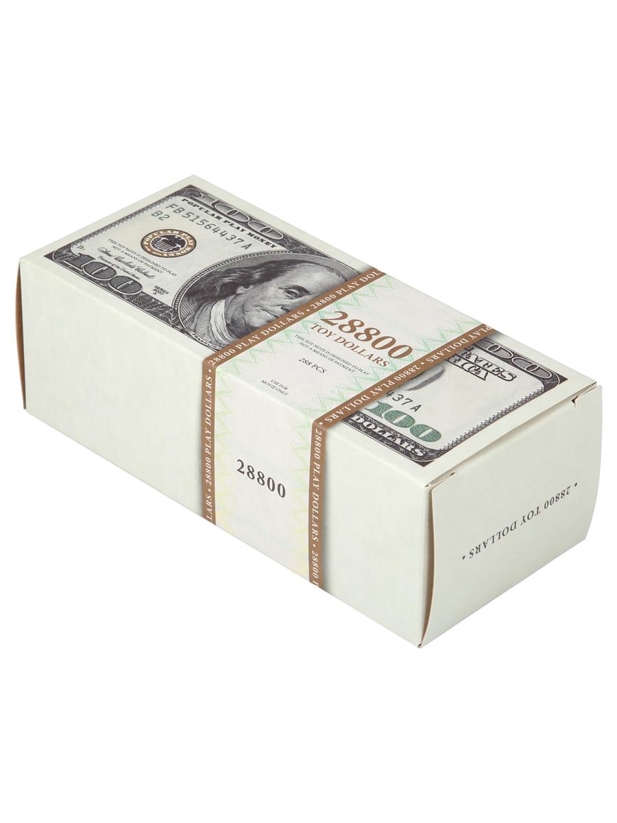 Купить Набор игрушечных долларов для праздников и маскарадов 100 play dollars 28800 , Viko Serial Production, Карнавальные головные уборы