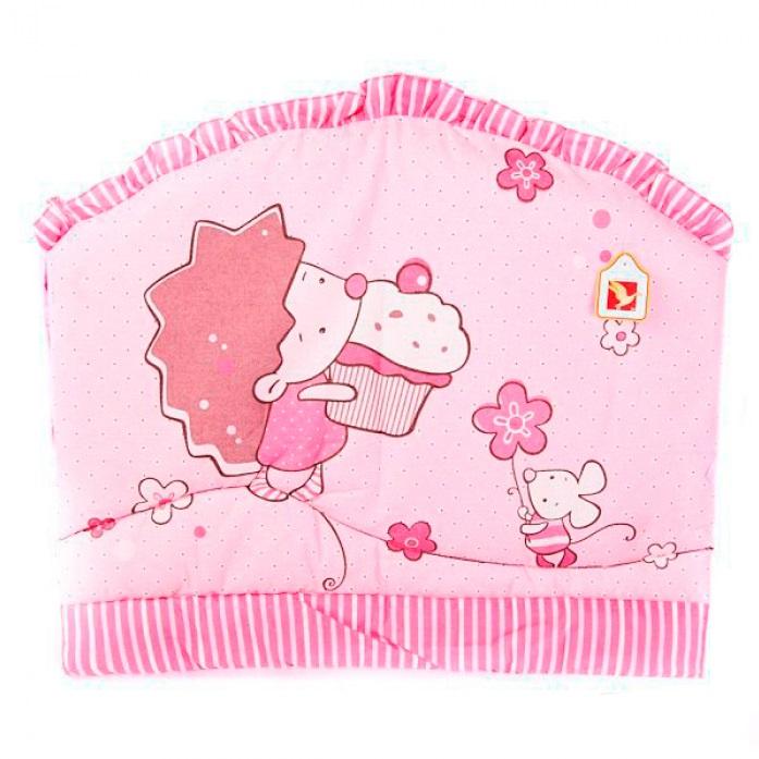Купить Комплект в кроватку Золотой гусь Ежик Топа-Топ розовый, Золотой Гусь, Комплекты детского постельного белья