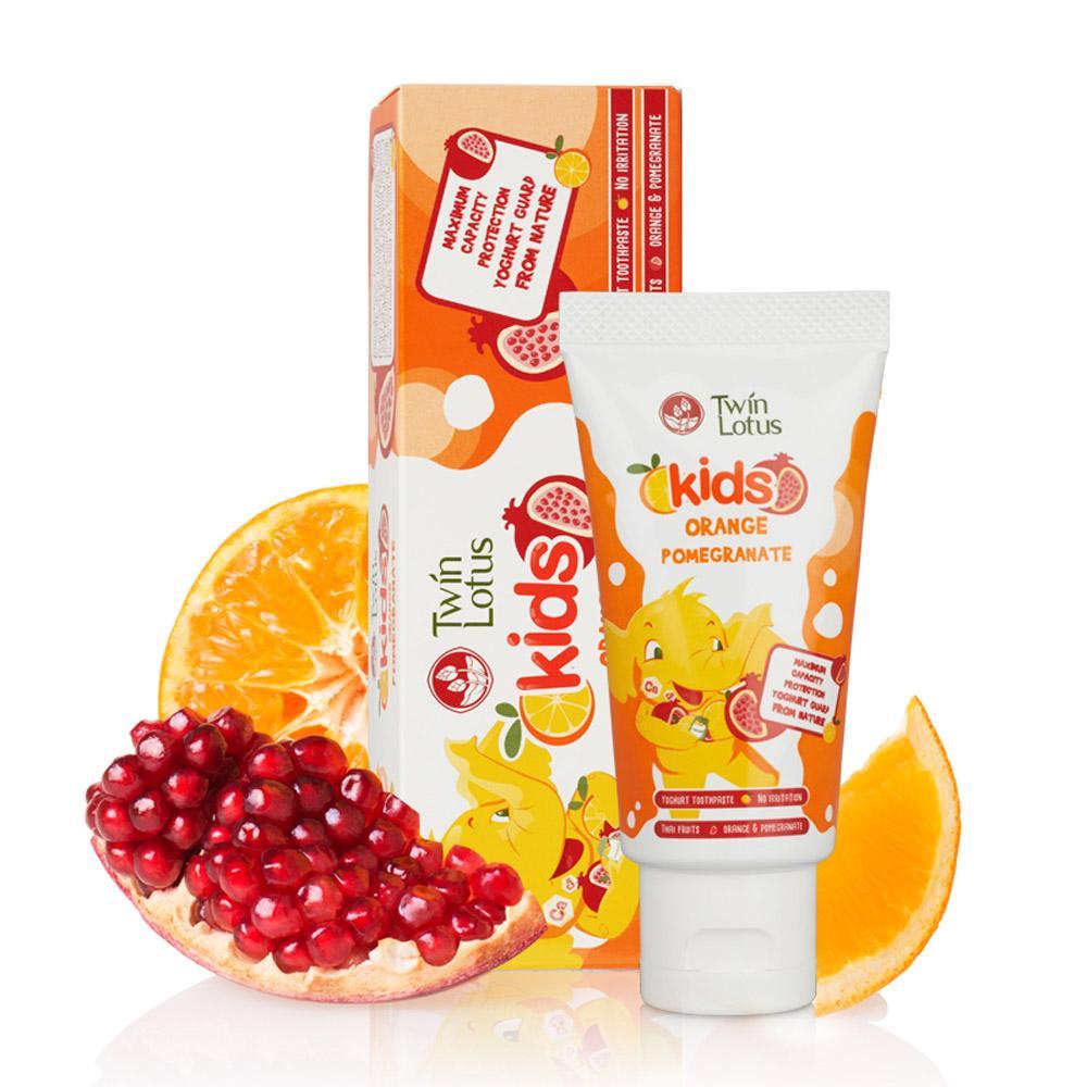 Купить Апельсин и гранат, Зубная паста детская Twin Lotus Orange&pomegranate (Апельсин И Гранат) 50Мл,