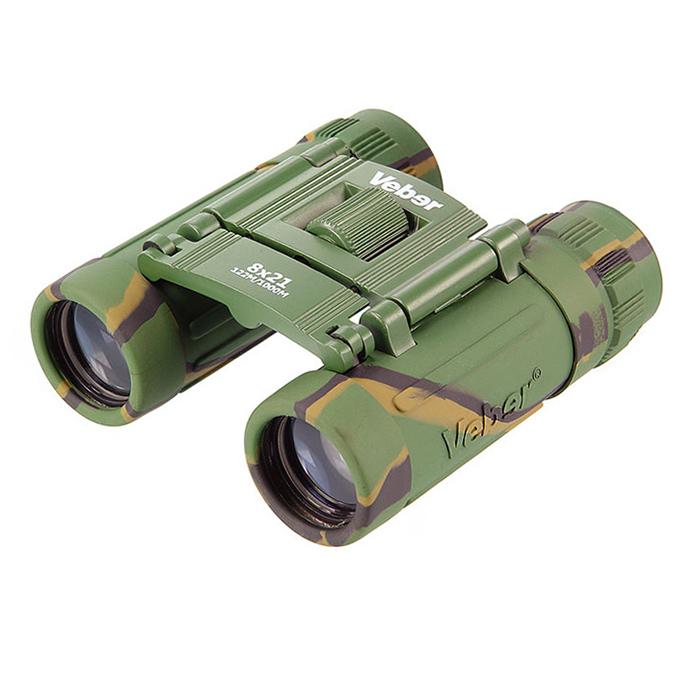 Бинокль обрезиненный камуфляж БН8х21cam Veber Sport