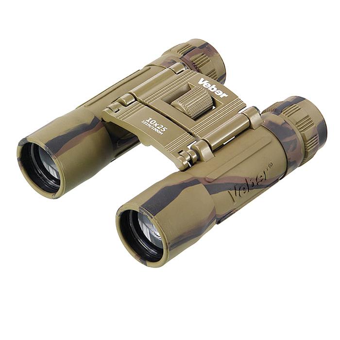 Бинокль обрезиненный камуфляж БН10х25cam Veber Sport