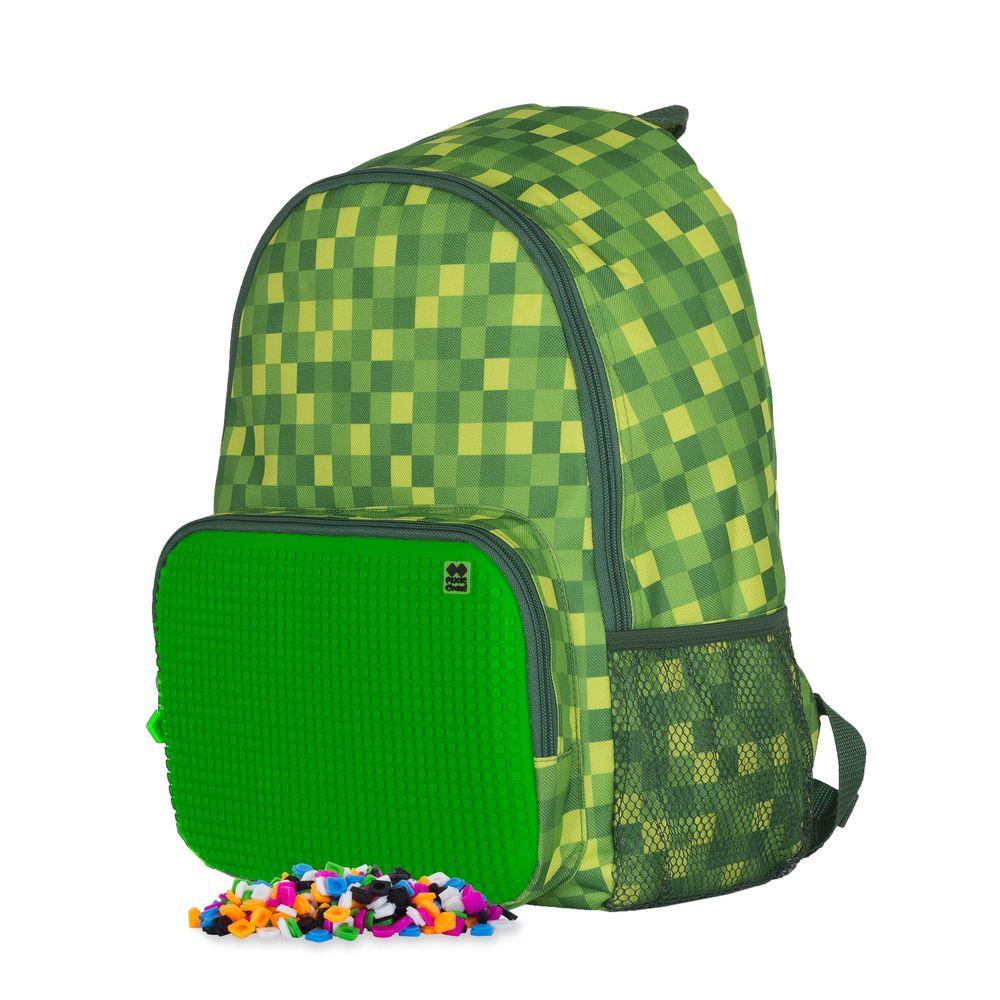 Рюкзак детский Pixie Crew школьный зеленая клетка,