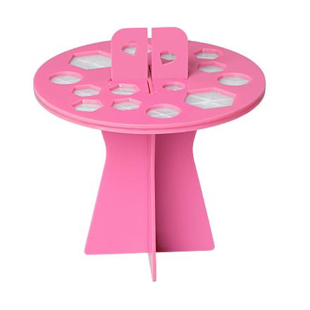 Купить Подставка-органайзер для сушки кистей IRISK, 16 ячеек, розовая