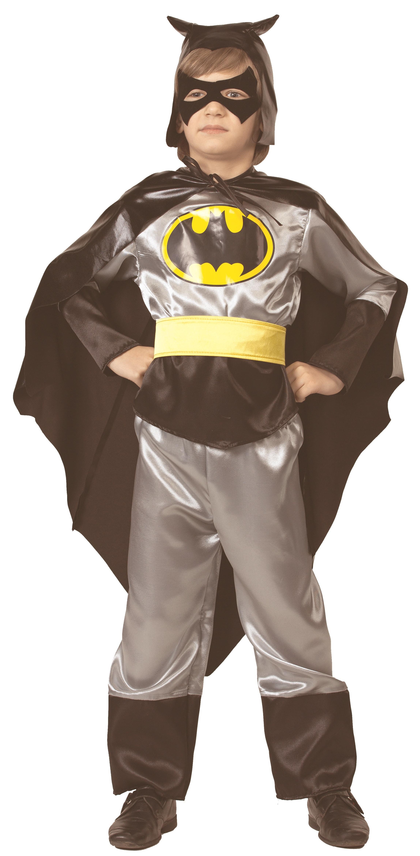 Купить 7018, Костюм Батик Бэтмен С Плащом И Маской Детский 36 (146 см),