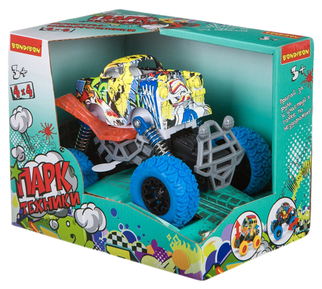 Купить Машинка инерционная Bondibon Парк техники Джип синий ВВ4569,