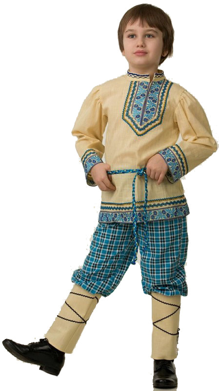 5605, Костюм Батик Народный С Портянками Детский 30 (116 см),  - купить со скидкой