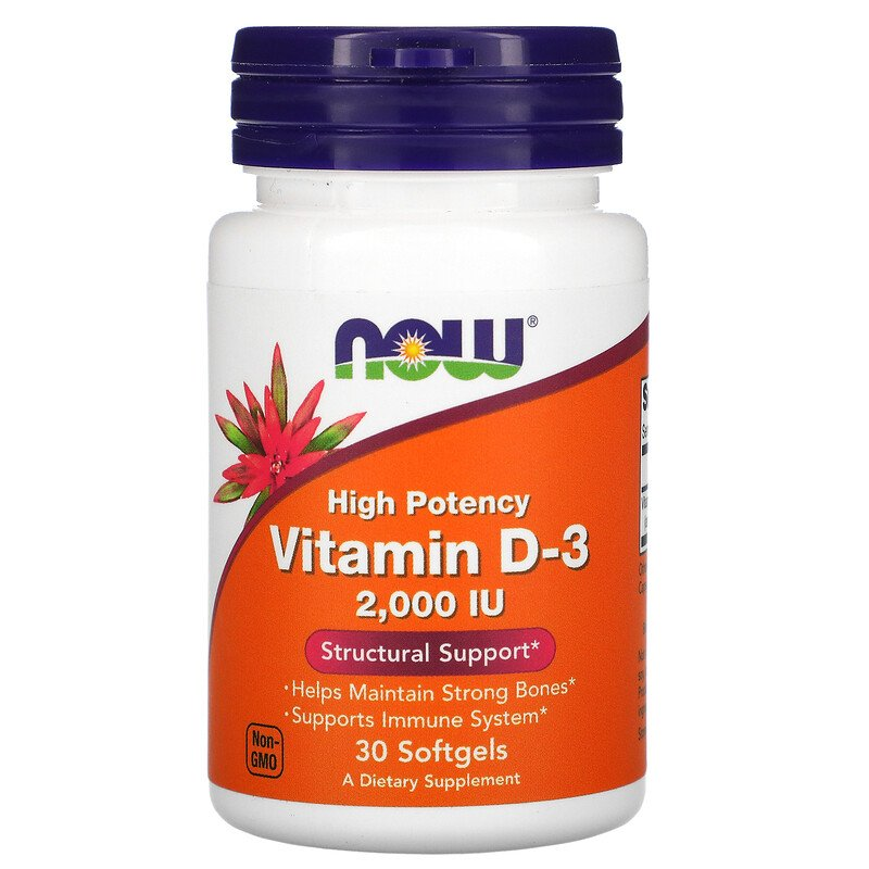 Купить Витамин Д3 NOW D-3 2000 МЕ капсулы 30 шт.