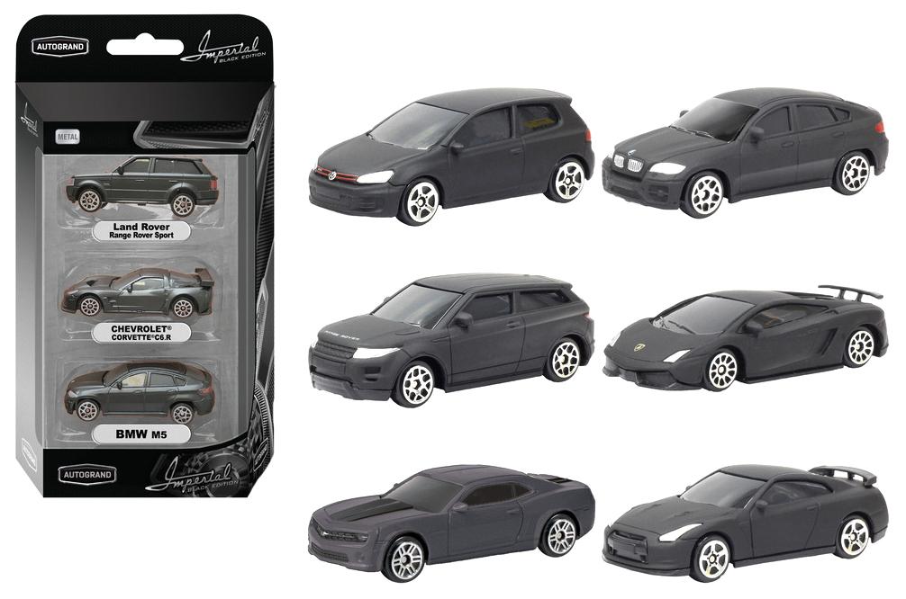 Купить Набор металлических машинок Autotime Black Edition №1 1:64 48670,
