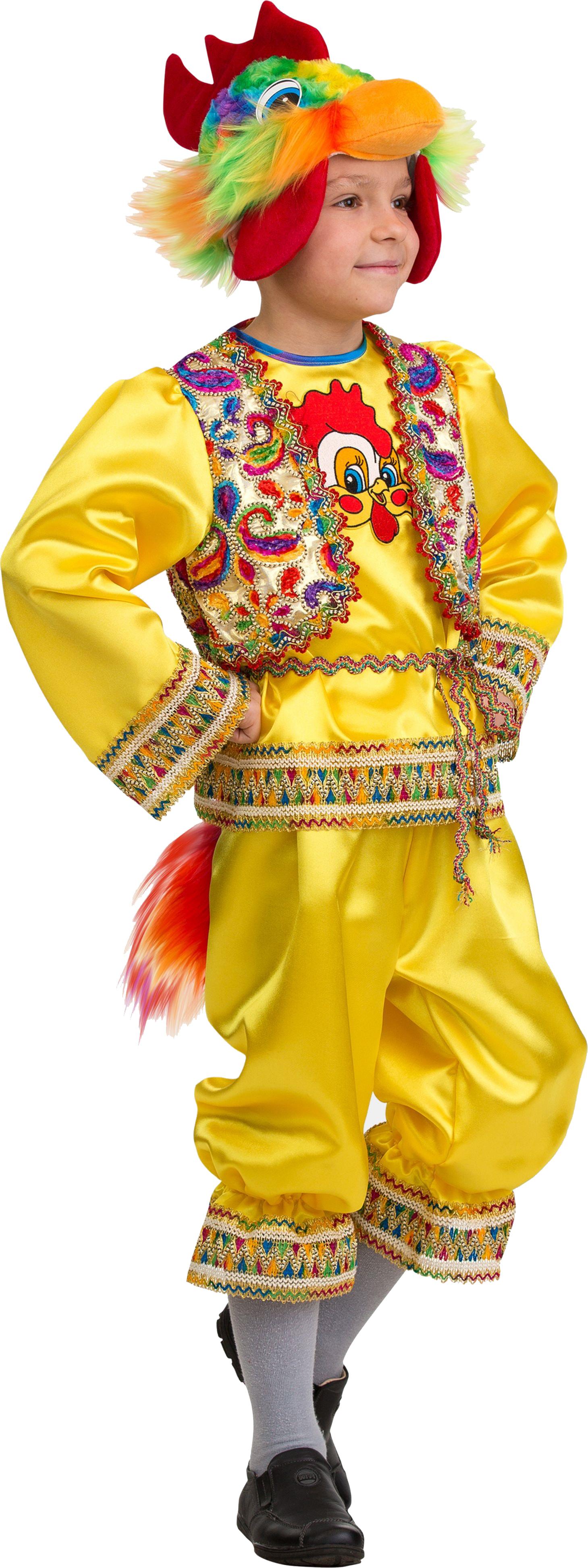 Купить 413, Костюм Батик Петушок Кукареку Детский 30 (116 см),