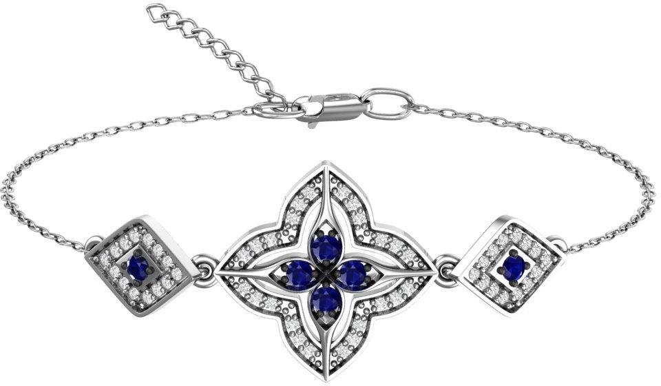 Браслет женский F-Jewelry A7121060 р.16.5