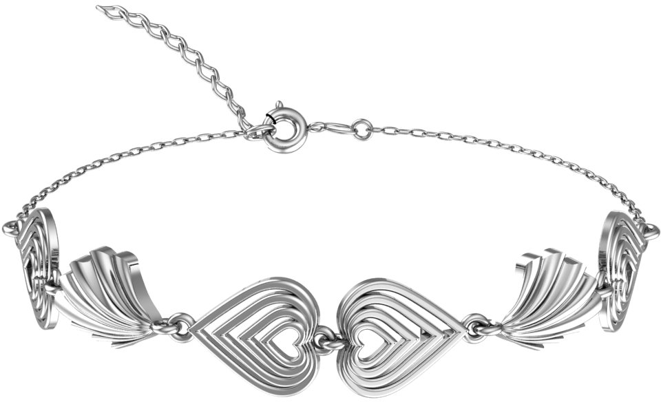 Браслет женский F-Jewelry A7121019 р.16.5
