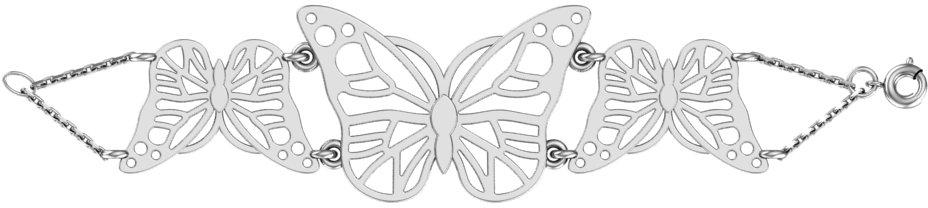 Браслет женский F-Jewelry A7121017 р.16.5