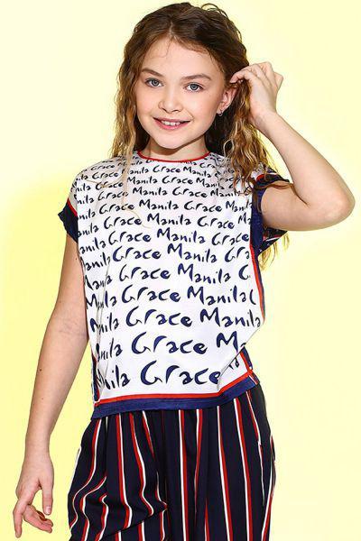 Купить MG23, Футболка детская Manila Grace цв.белый,