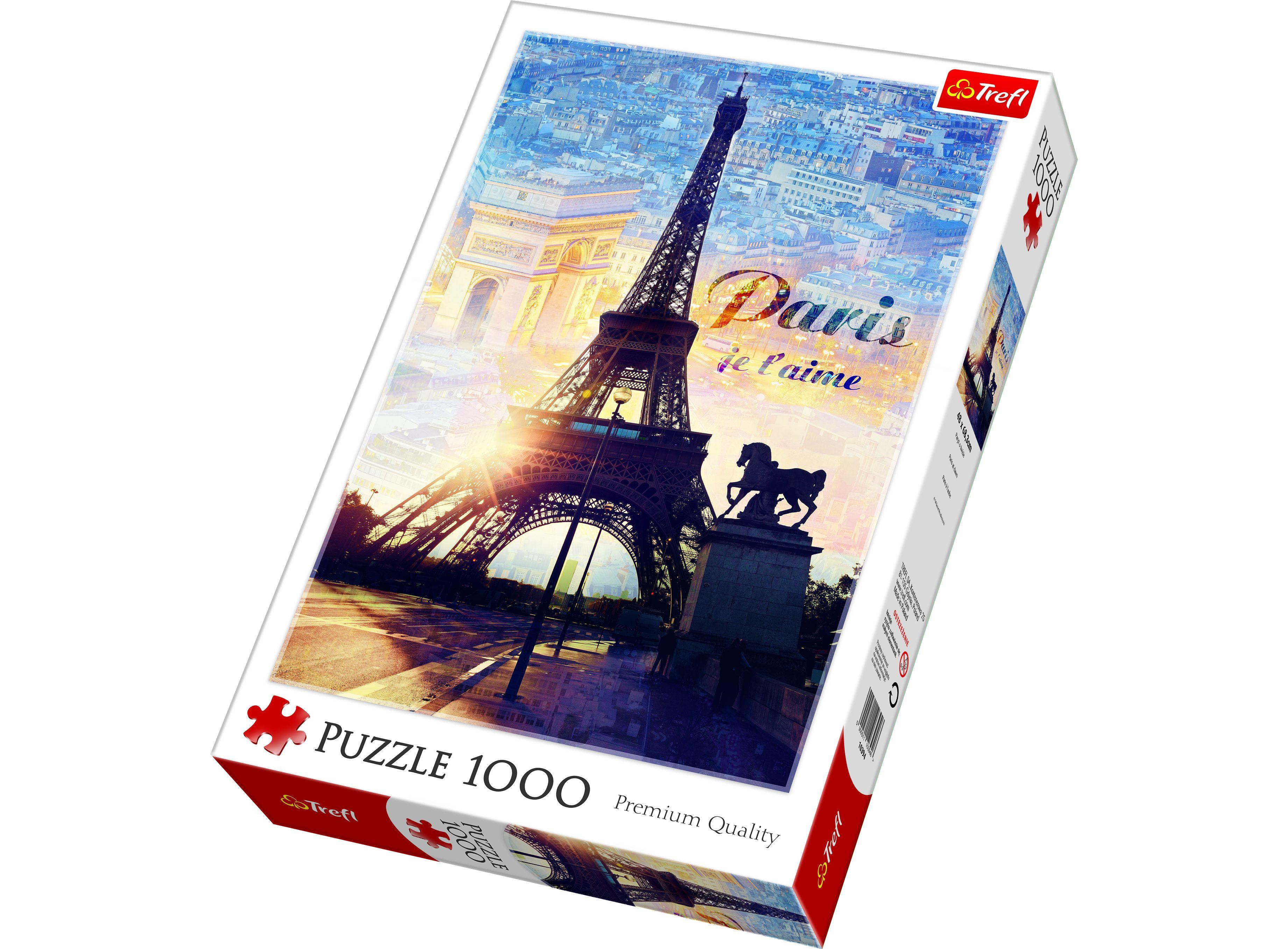 Купить Пазл Trefl Париж на рассвете, 1000 деталей,
