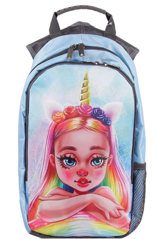 Купить BR40/20-M, Рюкзак для девочек BagRio цв.голубой,
