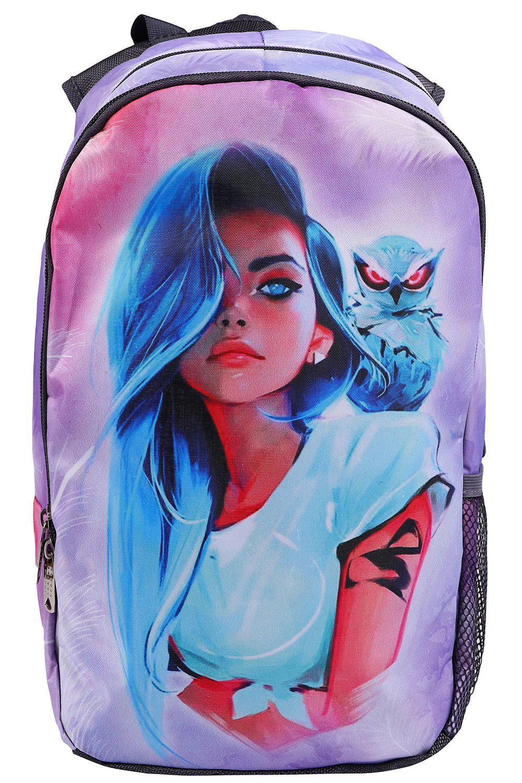 Купить NP42/19-M, Рюкзак для девочек BagRio цв.фиолетовый,