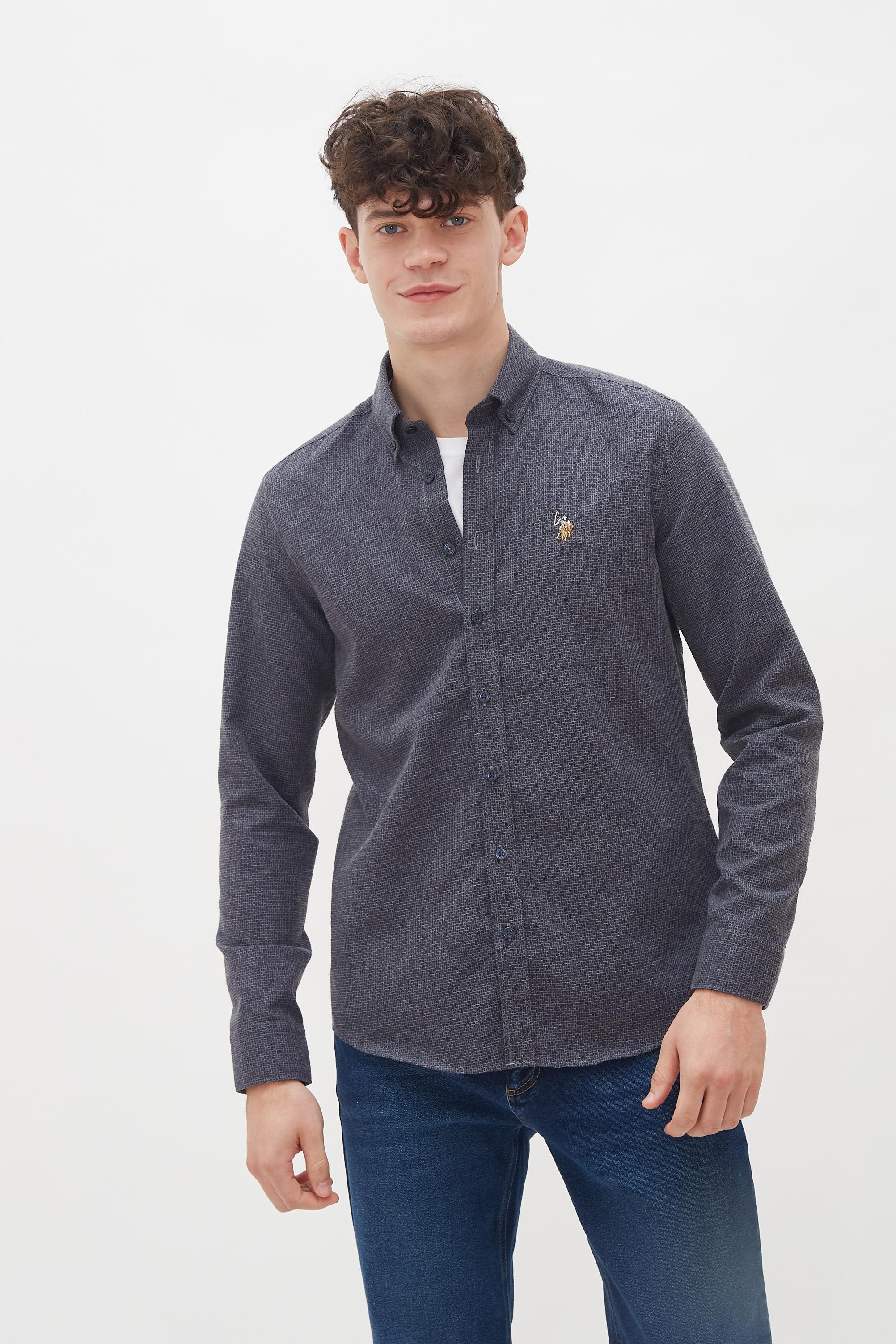 Рубашка мужская U.S. POLO Assn. G081SZ0040YUKATA синяя M
