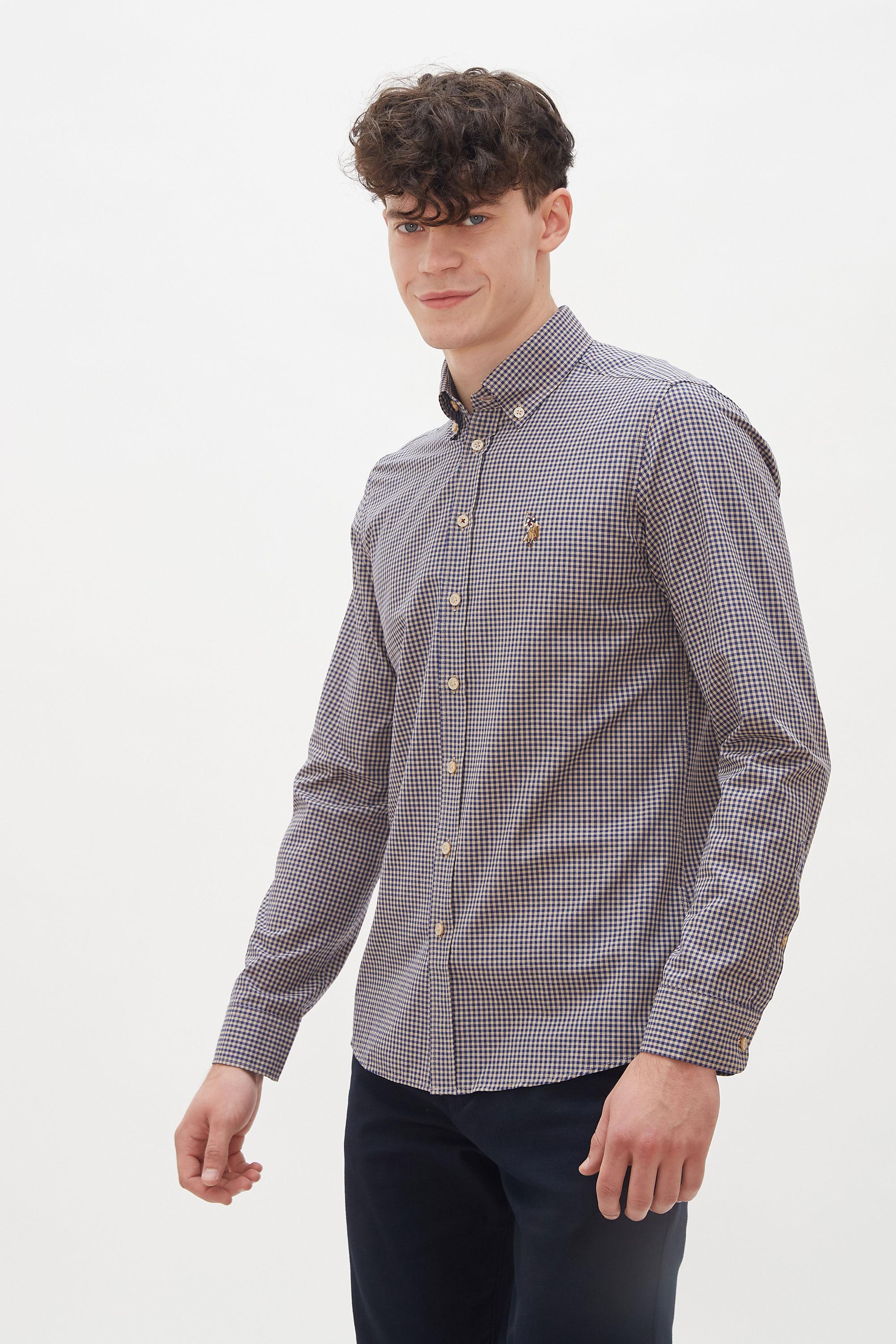 Рубашка мужская U.S. POLO Assn. G081GL0040ALFA синяя M