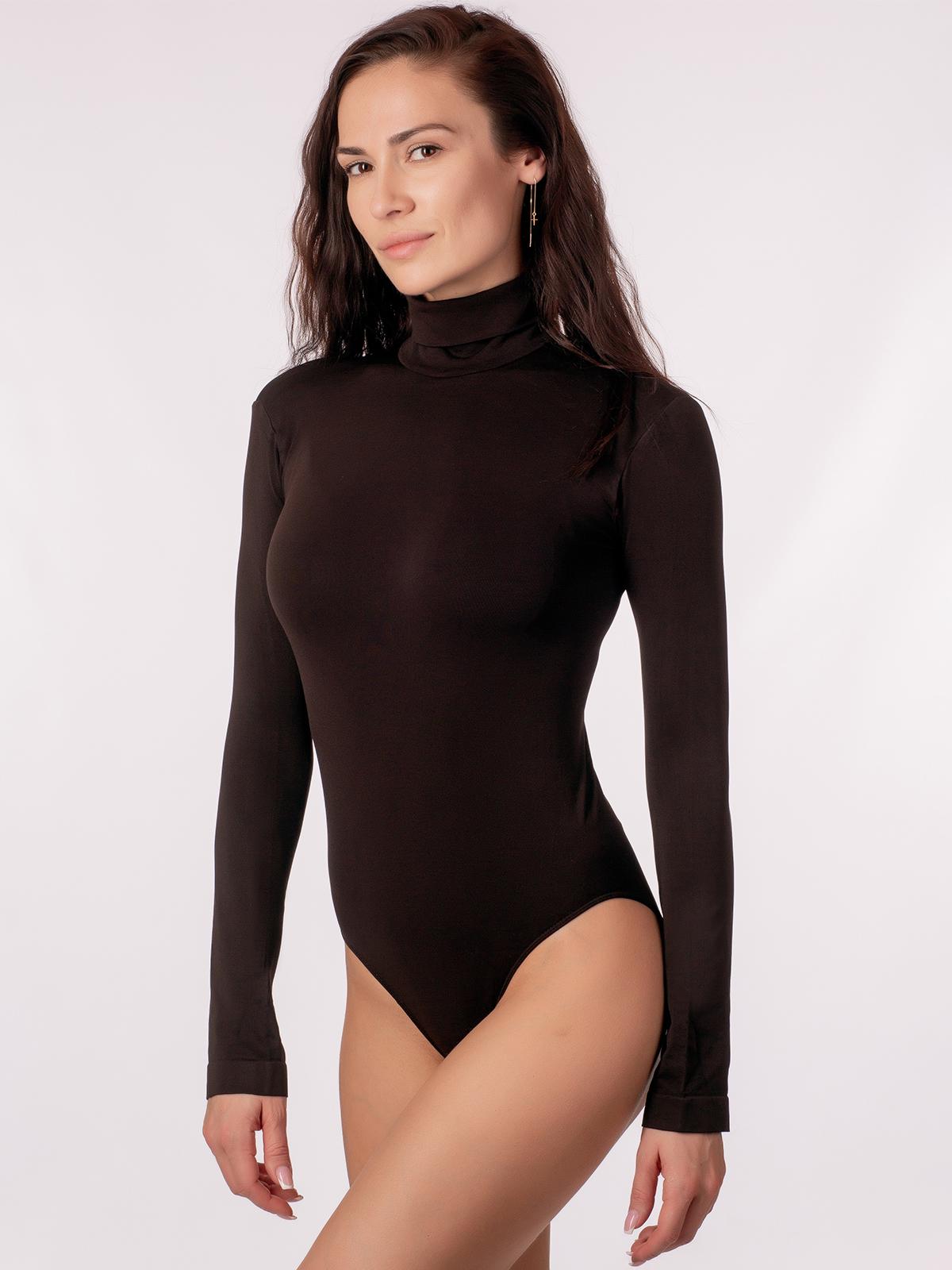 Боди женское Giulia BODY DOLCEVITA MANICA LUNGA коричневое S/M