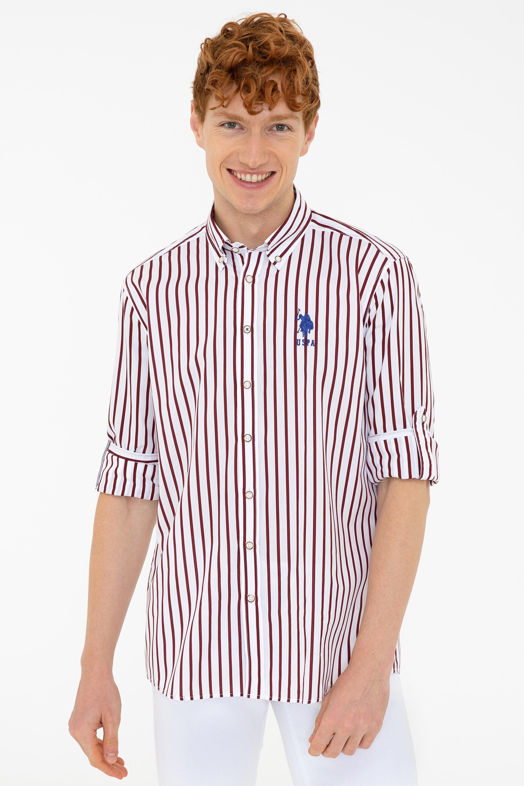 Рубашка мужская U.S. POLO Assn. G081SZ0040R-ALP белая L