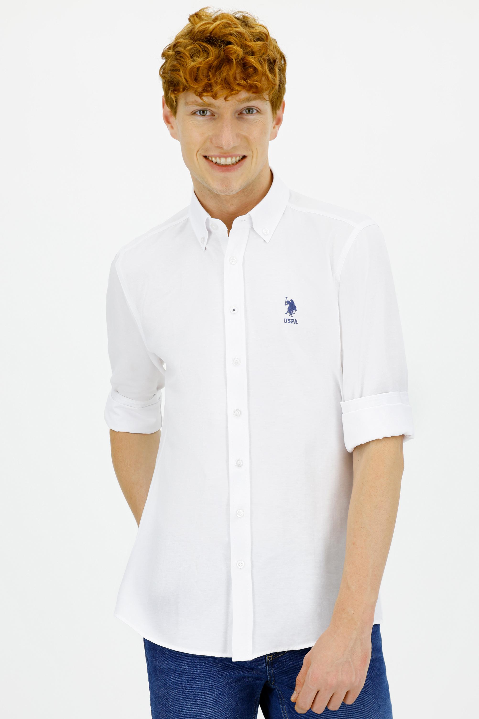 Рубашка мужская U.S. POLO Assn. G081GL0040GOX021K белая XL