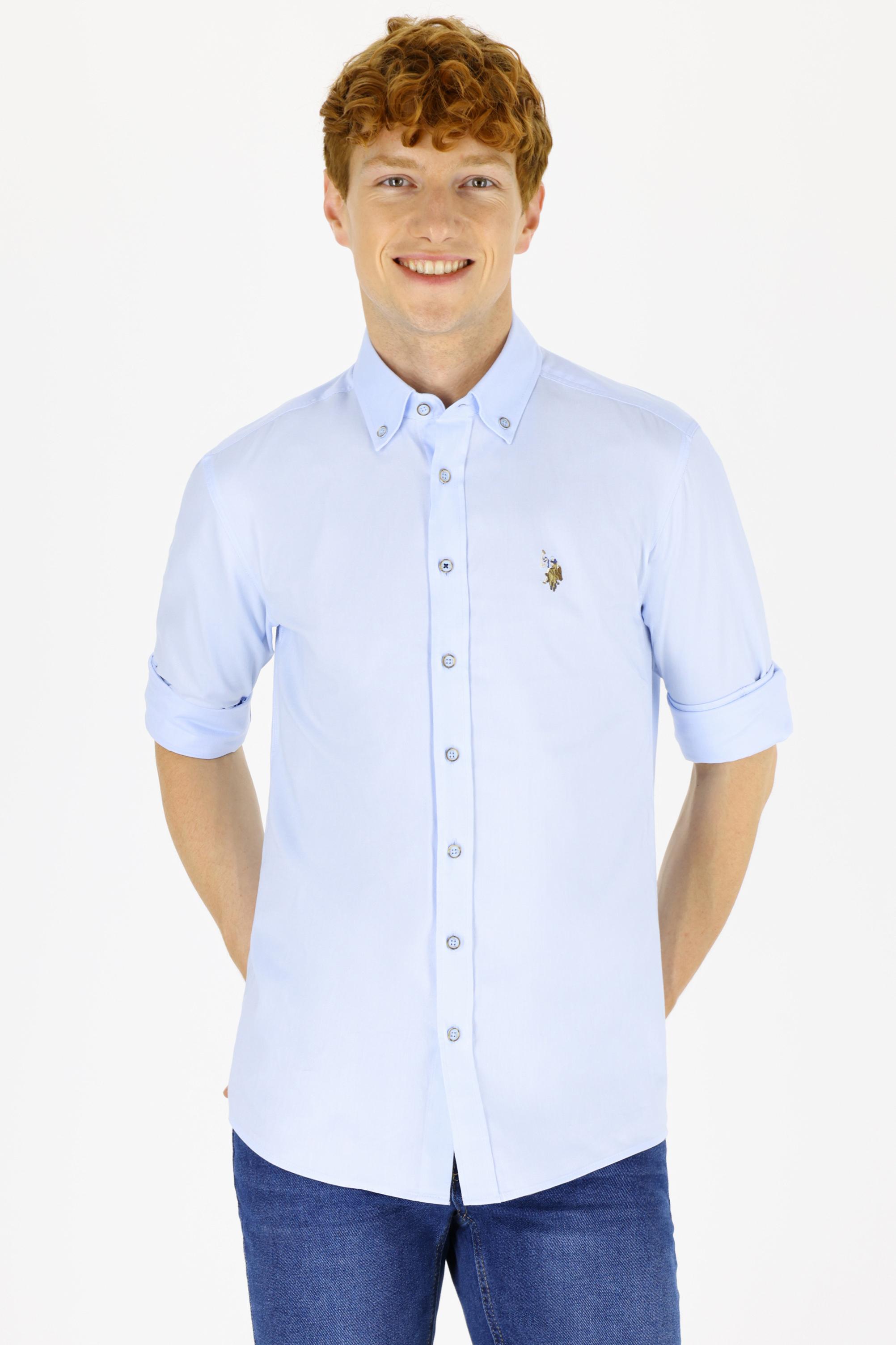 Рубашка мужская U.S. POLO Assn. G081SZ0040CEDCOLOR021K голубая L
