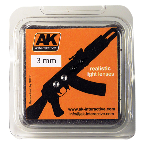 AK Interactive Линзы прозрачные OPTIC COLOUR 3mm