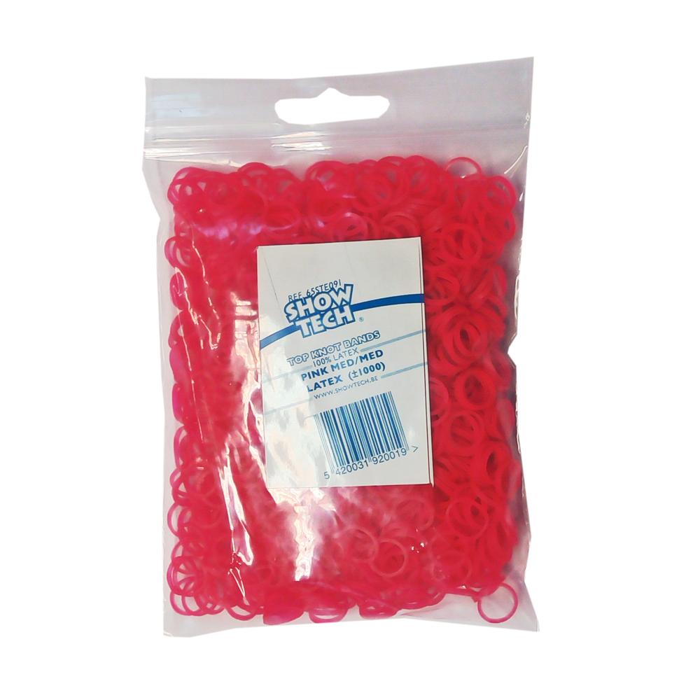 Резинки для папильоток ярко розовые 1000 шт.,