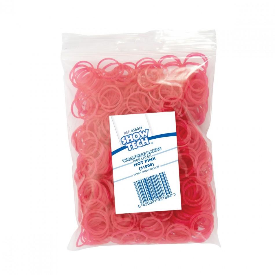 Резинки латексные розовые 1000 шт., Show Tech