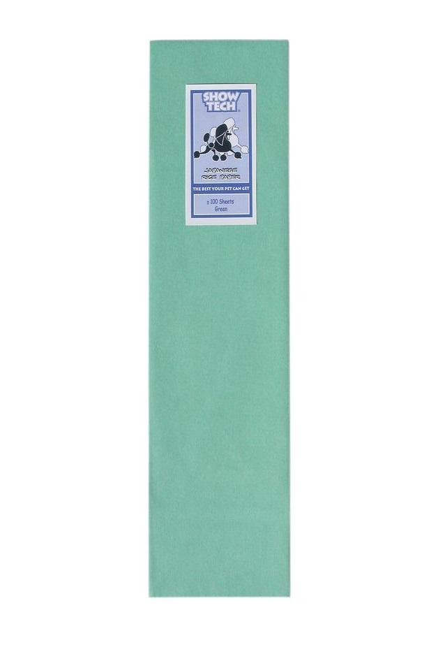 Рисовая бумага для папильоток зелёная Show Tech