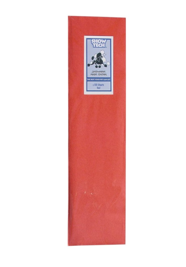 Рисовая бумага для папильоток красная Show Tech