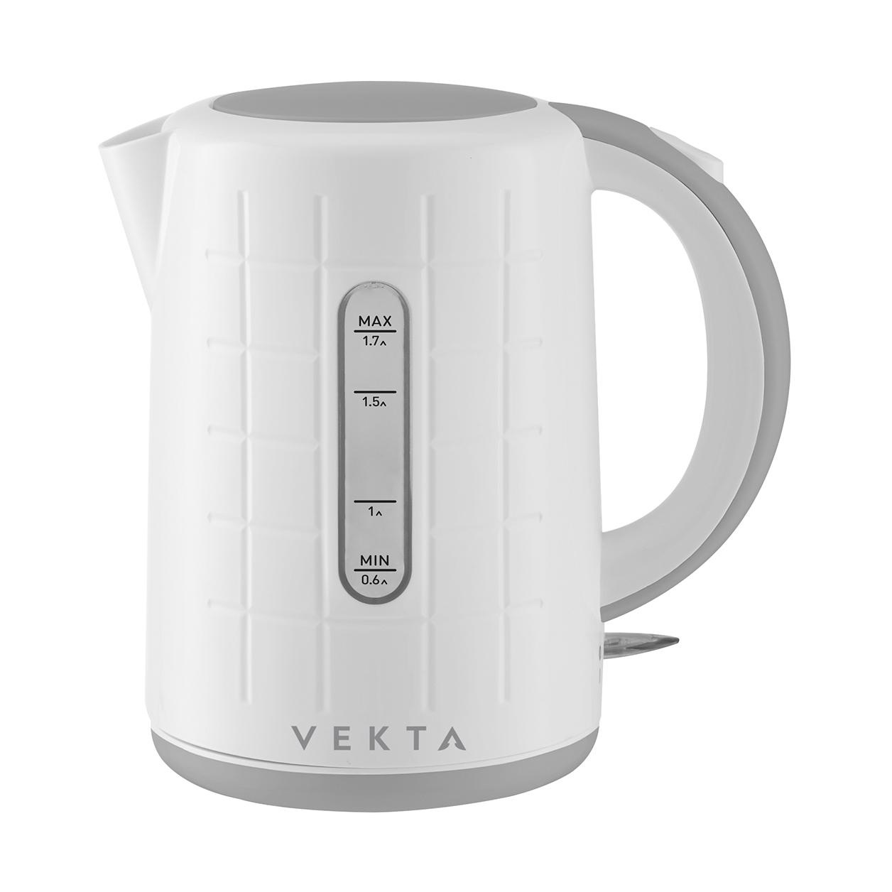 Чайник электрический Vekta KMP 1707 White/Grey