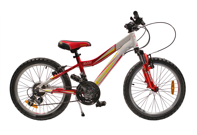 Велосипед Gravity Elite 20 2015 One Size красно-белый.