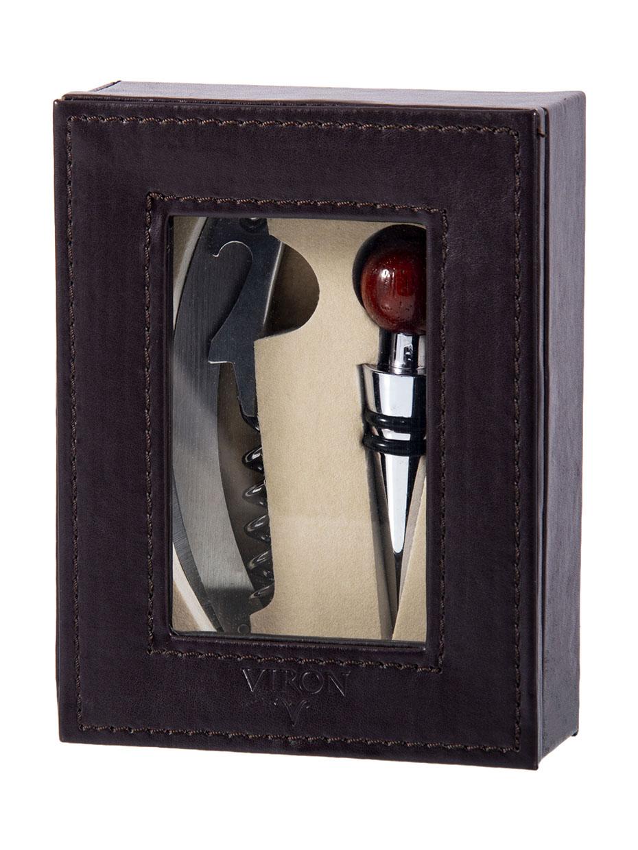Подарочный набор сомелье: пробка, штопор 15*12*5см VIRON