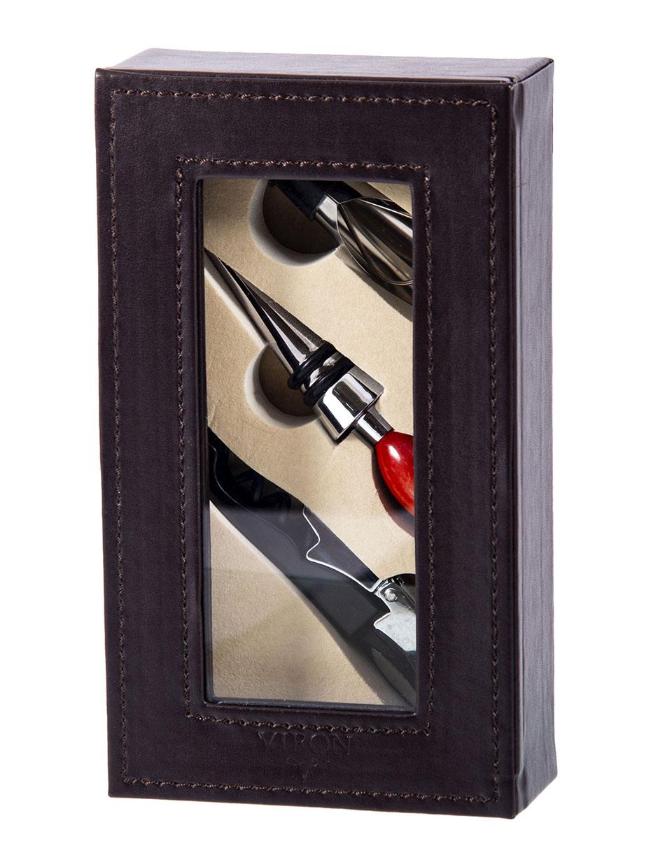Подарочный набор сомелье: пробка, штопор, воронка 19*11*5см