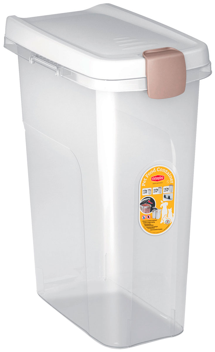 Контейнер для корма Stefanplast прозрачный с белой
