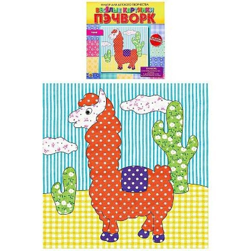 Купить НД-2253, Набор для творчества Рыжий Кот Веселые картинки. Пэчворк. Лама, Рыжий кот,
