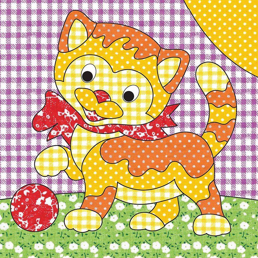 Купить НД-2255, Набор для творчества Рыжий Кот Веселые картинки. Пэчворк. Котёнок, Рыжий кот,