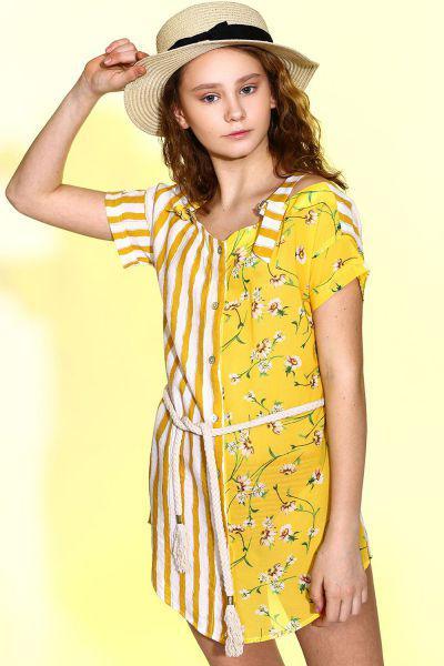 Купить MG48, Платье детское Manila Grace цв.желтый,
