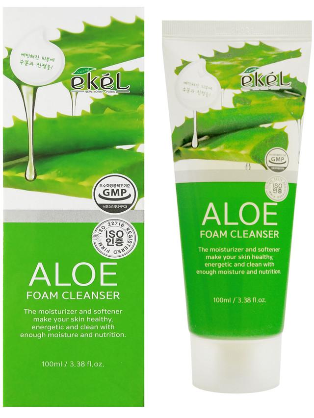 Купить Нежная пенка для умывания с экстрактом АЛОЭ Ekel Aloe Foam Cleanser, 100 мл
