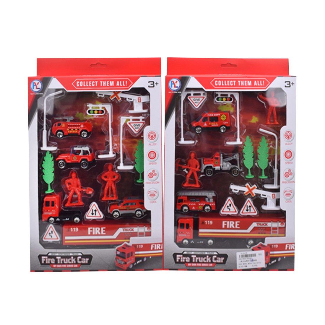 Купить Игровой набор Наша Игрушка Пожарный, 4 металлические машины, 10 предметов HY327, Наша игрушка,