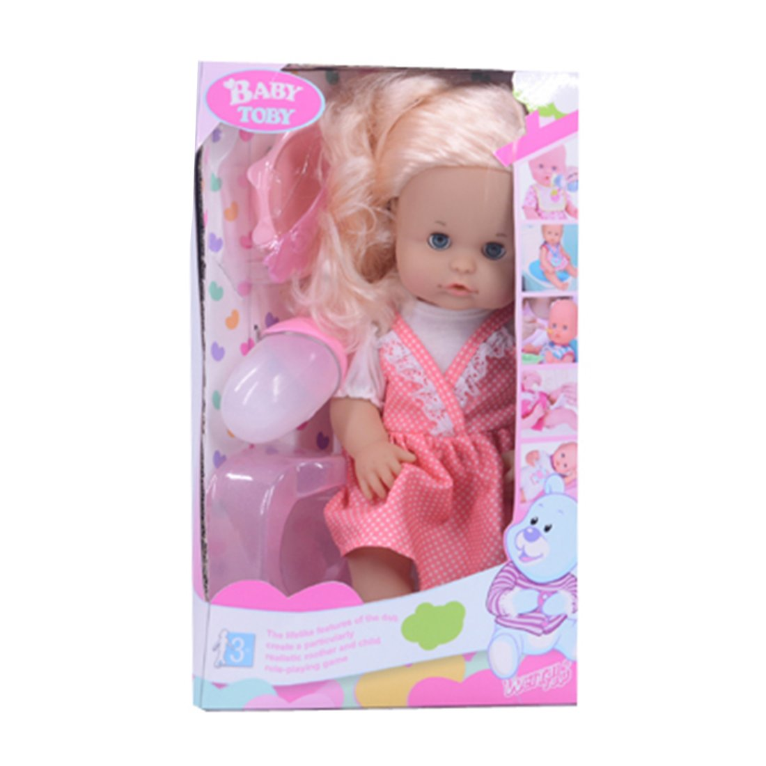 Купить Мой малыш, 31 см, пьет, писает, 4 предмета, коробка, Кукла Наша Игрушка Мой малыш, 4 предмета 319022C4, Наша игрушка,