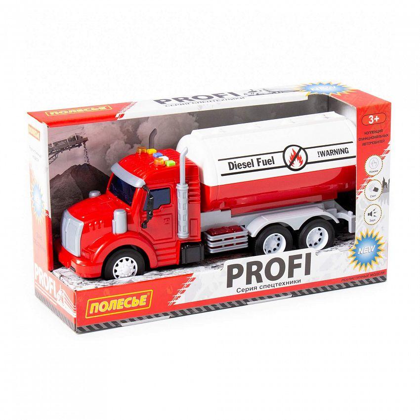 Купить Автомобиль Полесье Профи, контейнеровоз, инерционный, со светом 86464,