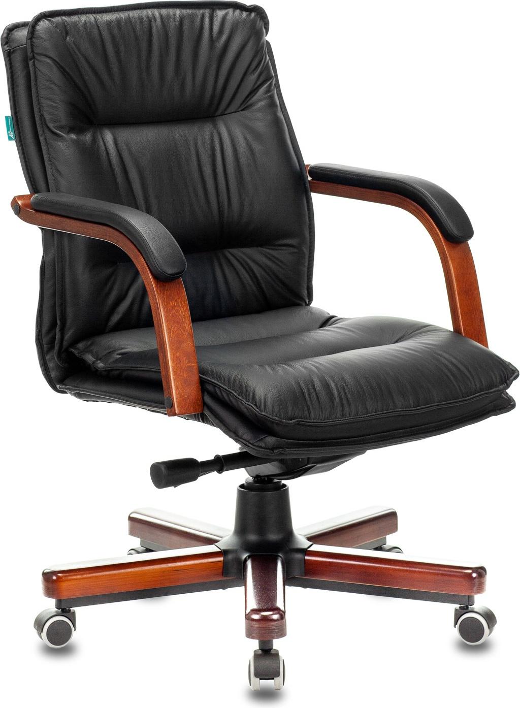Кресло руководителя Бюрократ T-9927WALNUT-LOW черный (t-9927walnut-low/bl)